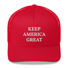 Load image into Gallery viewer, Keep America Great Retro Trucker Cap Red