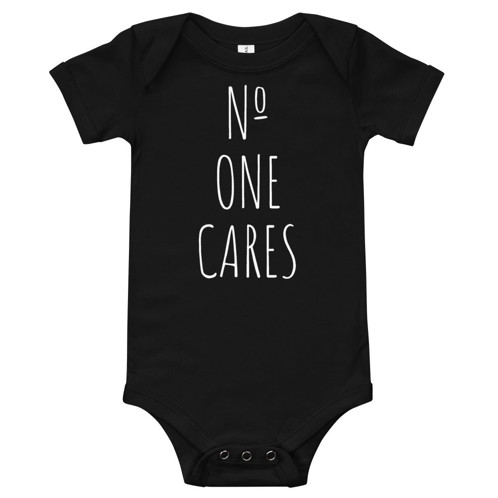 Number One Cares Baby One Piece Black