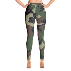 Camouflage Pattern Print, Women's Yoga Leggings
