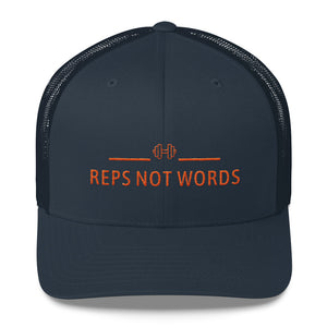 Reps Not Words Orange, Retro Trucker Cap