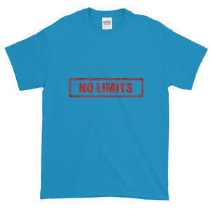 No Limits Sign Red, Men's Short-Sleeve T-Shirt
