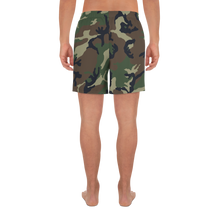Load image into Gallery viewer, Deer Hunter Text Camo Pattern Printed, Men's Athletic Long Shorts