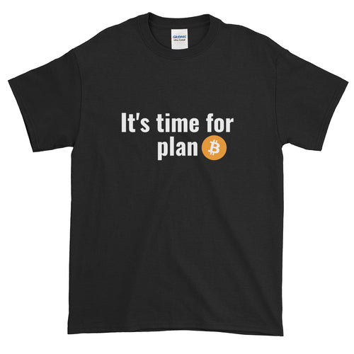 It's Time For Plan Bitcoin, Men's Short Sleeve T-Shirt
