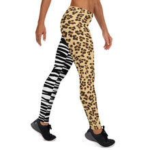 Load image into Gallery viewer, Leopard and Zebra Women's Leggings