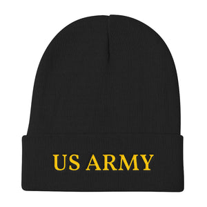 US ARMY Golden Text, Knit Beanie