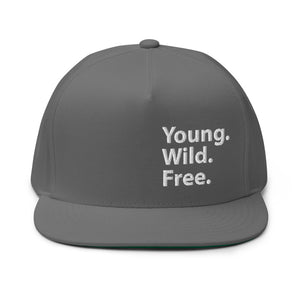 Young Wild Free, Embroidered Flat Bill Cap