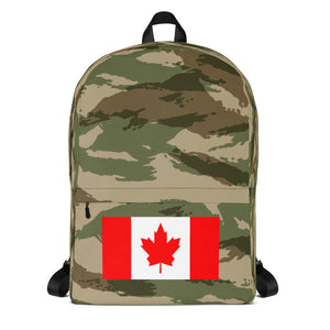 Canada Flag, Backpack Green Camo