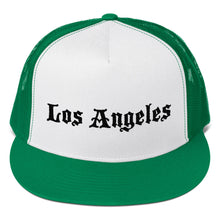 Load image into Gallery viewer, Los Angeles Text Black, Trucker Cap