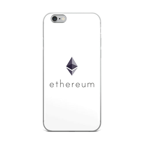 Ethereum ETH Cryptocurrency Logo, iPhone Case