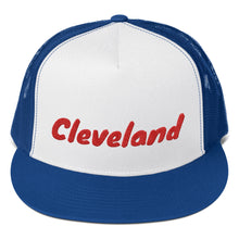 Load image into Gallery viewer, Cleveland Text Red, Trucker Cap