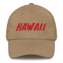 Load image into Gallery viewer, Hawaii Text Red, Dad hat