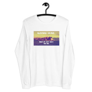 Alcatraz Island Home Of Lost Souls Unisex Long Sleeve Tee White