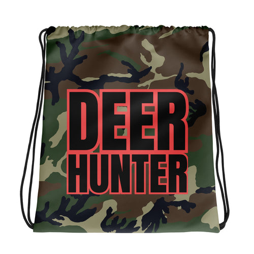 Deer Hunter Text Camo, Drawstring bag