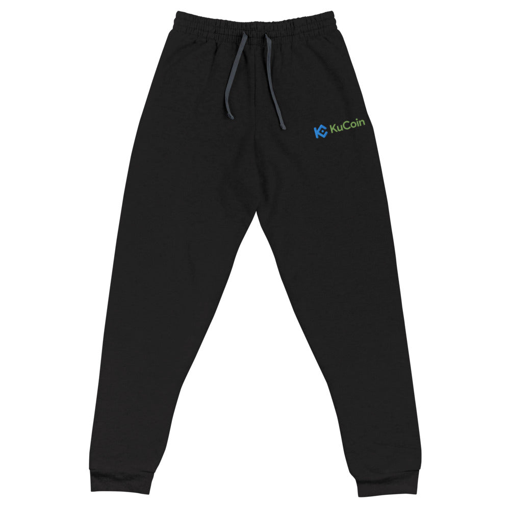 KuCoin Cryptocurrency Exhange Logo, Embroidered Unisex Pants, jeans
