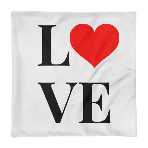Love Heart, Premium Pillow Case
