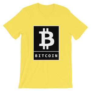Bitcoin BTC Cryptocurrency Logo Poster, Short-Sleeve Unisex T-Shirt