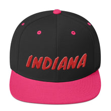 Load image into Gallery viewer, Indiana Text Red 3D Puff, Snapback Hat