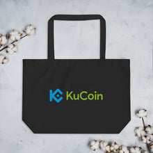 Load image into Gallery viewer, KuCoin Cryptocurrency Exchange Logo, Large Organic Eco Tote Bag