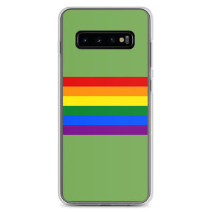 Pride Flag Colors, Samsung Galaxy Case Light Green