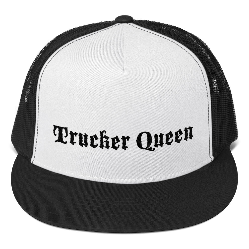 Trucker Queen Text Black, Trucker Cap