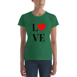 Love Heart 2, Women's Short Sleeve T-shirt
