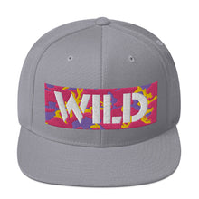 Load image into Gallery viewer, WILD 3D Text Atomic Camo Snapback Hat
