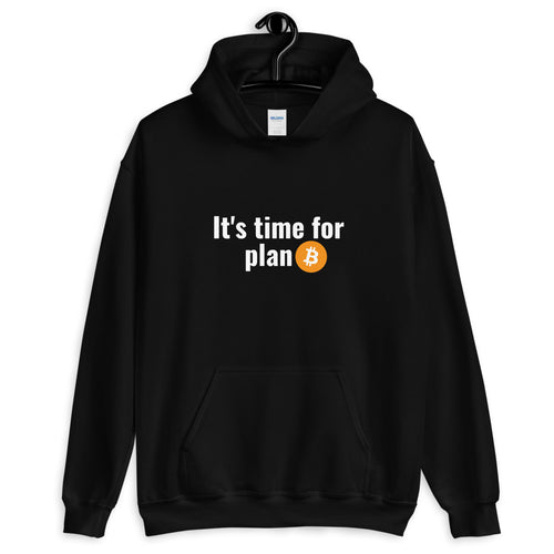 It's Time For Plan Bitcoin, Unisex Hoodie Black