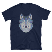 Load image into Gallery viewer, Wolf Blue Digi Print, Short-Sleeve Unisex T-Shirt