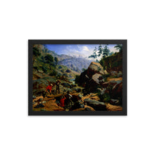 Load image into Gallery viewer, Miners in the Sierras Framed Poster