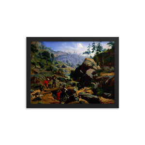Miners in the Sierras Framed Poster