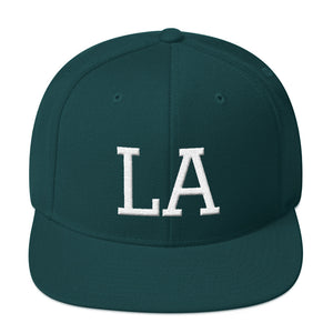 Los Angeles City LA Letters 3D Puff White, Snapback Hat