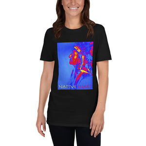Native Heart American Indian Man, Short-Sleeve Unisex T-Shirt