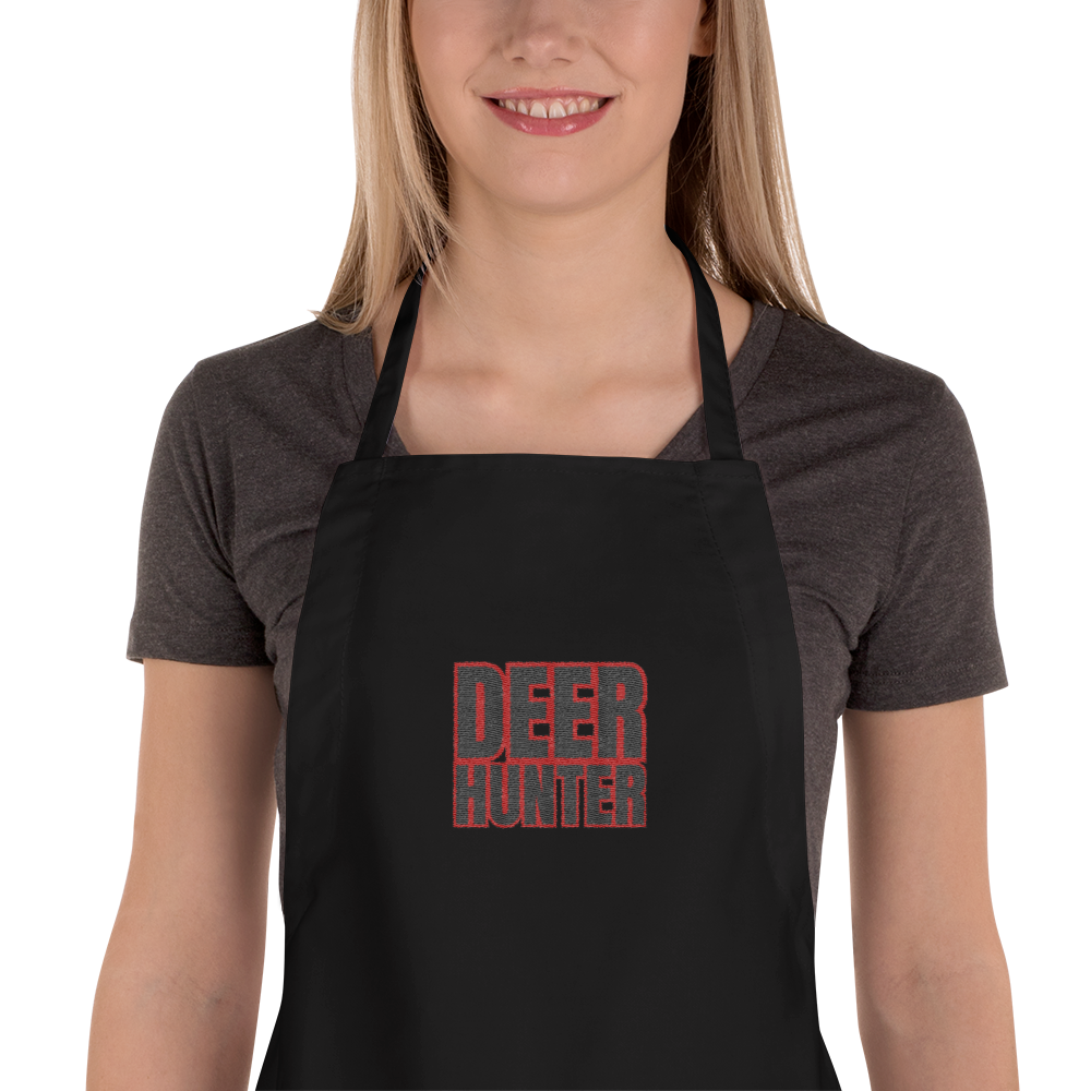Deer Hunter Text, Embroidered Apron