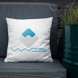 waves crypto home decor  premium pillow