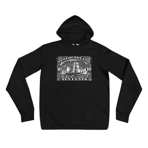 Newfoundland 1887 Sail Ship Stamp Art Unisex Hooded Sweatshirt