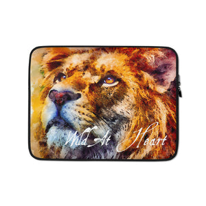 Wild At Heart Lion Laptop Sleeve 13 inch