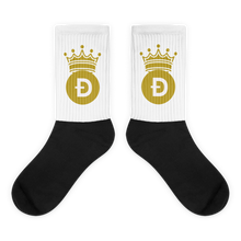 Load image into Gallery viewer, Dogecoin D Symbol With Crown, Unisex Socks
