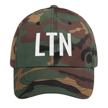 Load image into Gallery viewer, Army Lieutenant White LTN Letters, Dad hat