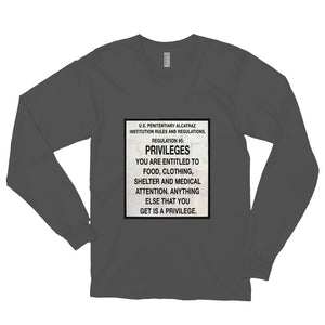 Alcatraz Prison Regulation Nr 5, Unisex Long Sleeve T-shirt