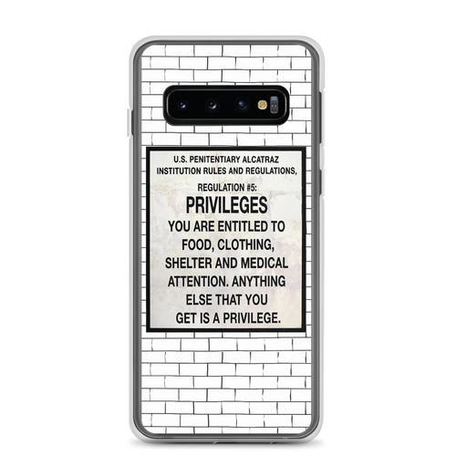 Alcatraz Prison Regulation Nr 5 Sign, Samsung Galaxy Case