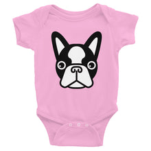 Load image into Gallery viewer, French Bulldog Face, Baby Bodysuit