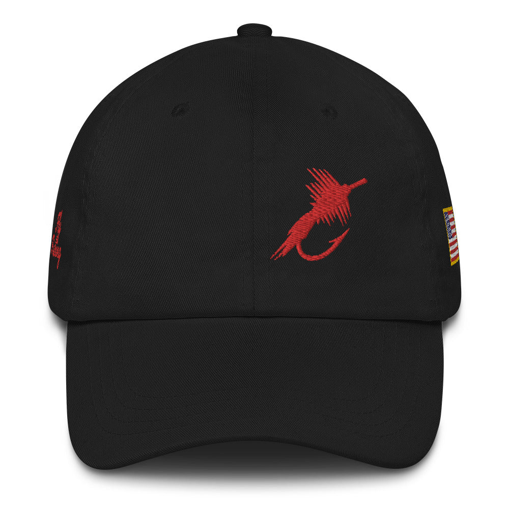Fly Fishing USA Cap, Embroidered Dad Hat