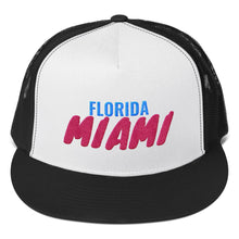 Load image into Gallery viewer, Miami Florida Text, Trucker Cap