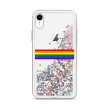 Load image into Gallery viewer, Pride Rainbow Flag Colors, Liquid Glitter Phone Case