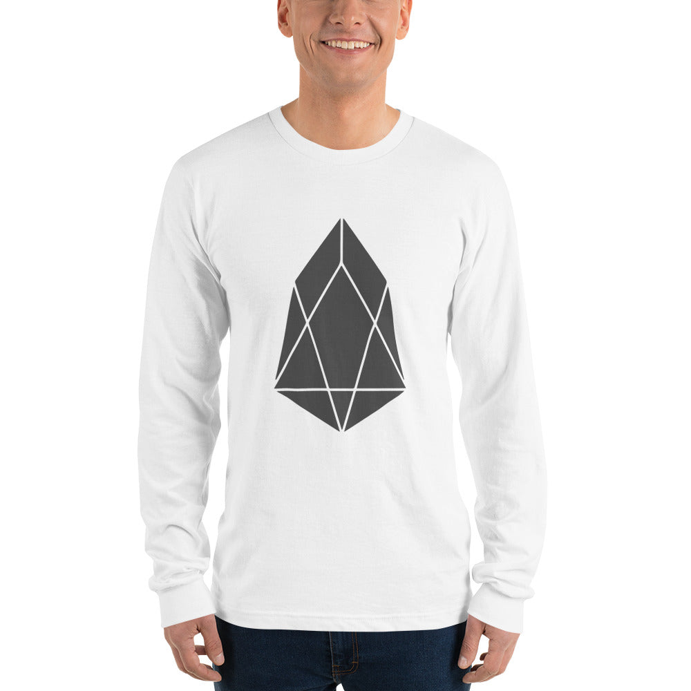 EOS Crypto Currency Logo, Men's Long sleeve t-shirt