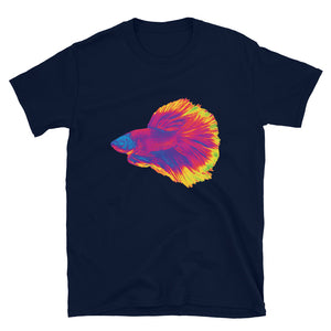 Betta Fighting Fish Atomic, Short-Sleeve Unisex T-Shirt