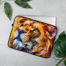 Load image into Gallery viewer, Wild At Heart Lion, Laptop Sleeve