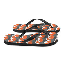 Load image into Gallery viewer, Monero Cryptocurrency Logo Pattern, Unisex Flip-Flops Grey