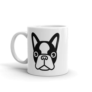 French Bulldog Face, White Glossy Coffee Mug