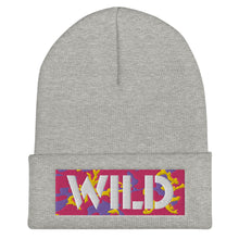 Load image into Gallery viewer, WILD 3D Text Atomic Camo, Unisex Cuffed Beanie
